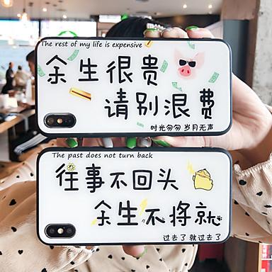 voordelige Galaxy Note-serie hoesjes / covers-hoesje Voor Samsung Galaxy S9 / S9 Plus / S8 Plus Spiegel / Ultradun / Patroon Achterkant Woord / tekst TPU