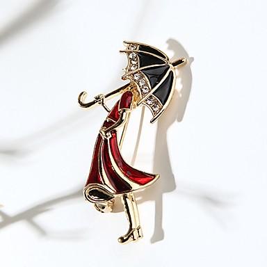 olcso Brossok-Női Melltűk Hercegnő Esernyő aranyos stílus Strassz Bross Ékszerek Arany Kompatibilitás Napi