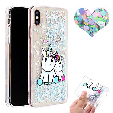 お買い得  iPhone 用ケース-アップルiphone xs iphone xr電話ケースtpu素材塗装パターン流砂電話ケースiphone xs最大x 8プラス8 7プラス7