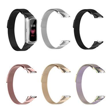Недорогие Аксессуары для смарт-часов-магнитный ремешок из нержавеющей стали для ремешка для часов для samsung galaxy fit браслет sm-r370