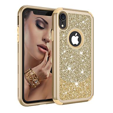 voordelige iPhone-hoesjes-hoesje Voor Apple iPhone XS / iPhone XR / iPhone XS Max Schokbestendig / Stofbestendig / Glitterglans Volledig hoesje Glitterglans / Kleurgradatie TPU / PC