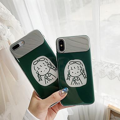 Недорогие Кейсы для iPhone 6 Plus-Кейс для Назначение Apple iPhone XS / iPhone XR / iPhone XS Max Зеркальная поверхность / Ультратонкий / С узором Кейс на заднюю панель Мультипликация ТПУ