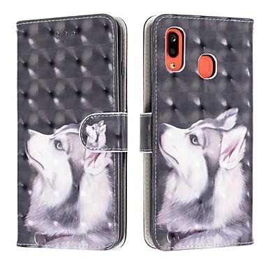 Недорогие Чехлы и кейсы для Galaxy А-Кейс для Назначение SSamsung Galaxy A6 (2018) / A6+ (2018) / Galaxy A7(2018) Кошелек / Бумажник для карт / Защита от удара Чехол С собакой Кожа PU