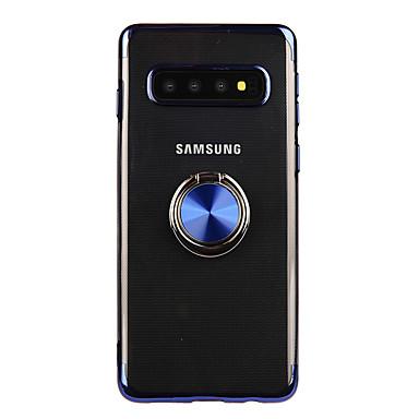 Недорогие Чехлы и кейсы для Galaxy S-Кейс для Назначение SSamsung Galaxy S9 / S9 Plus / S8 Plus Кольца-держатели / Прозрачный Кейс на заднюю панель Прозрачный ТПУ