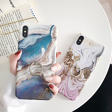 voordelige iPhone-hoesjes-hoesje Voor Apple iPhone XS / iPhone XR / iPhone XS Max Fidget spinner / met standaard / Patroon Achterkant Cartoon / Marmer PC