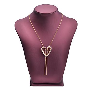 olcso Medál nyakláncok-Női Édesvízi gyöngy Nyaklánc medálok Szív Divat aranyos stílus Gyöngy 14K arany Arany 100 cm Nyakláncok Ékszerek 1db Kompatibilitás Fesztivál