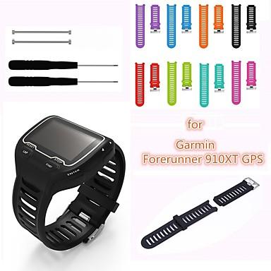 abordables Smart Watch Accessoires-Bracelet de Montre  pour Forerunner 910XT Garmin Boucle Classique Silikon Sangle de Poignet