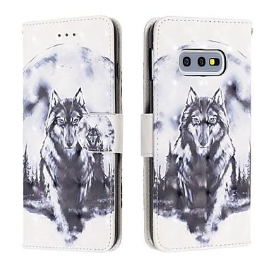 Недорогие Чехлы и кейсы для Galaxy S-Кейс для Назначение SSamsung Galaxy S9 / S9 Plus / Galaxy S10 Кошелек / Бумажник для карт / Защита от удара Чехол Животное Кожа PU