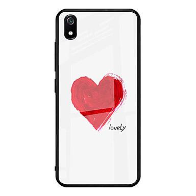 رخيصةأون Xiaomi أغطية / كفرات-غطاء من أجل Xiaomi شياومي ريدمي 7 / Xiaomi Mi 9 / Xiaomi Mi 6 نحيف جداً / نموذج غطاء خلفي قلب زجاج مقوى