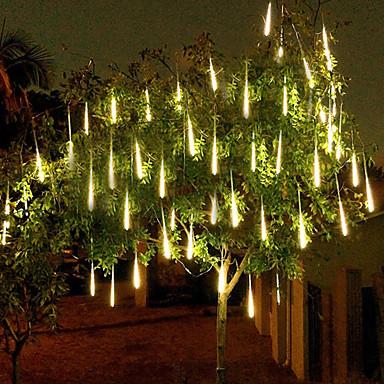 رخيصةأون أضواء شريط LED-4 حزمة 50 سنتيمتر x10 20 بوصة أضواء دش المطر 540 أدى الوقوع نيزك أضواء المطر لعطلة حزب هالوين عيد الميلاد شجرة الديكور للماء