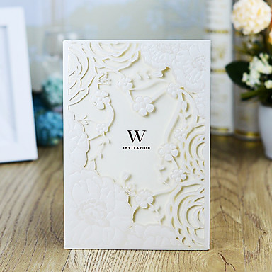 """cheap Gifts & Decorations-Wrap & Pocket Wedding Invitations 30pcs - Invitation Cards / Thank You Cards / Response Cards Artistic Style / Modern Style / Fairytale Theme Pearl Paper 5""""×7 ¼"""" (12.7*18.4cm)"""