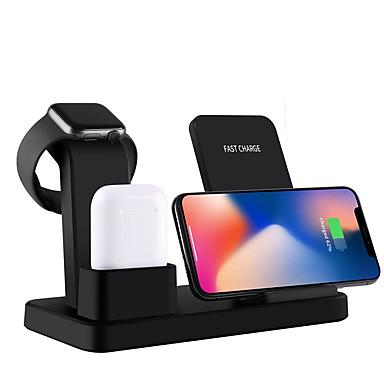 Недорогие Беспроводные зарядные устройства-10 Вт ци беспроводное зарядное устройство подставка для iphone x 7 8 3 в 1 быстрое зарядное устройство быстрая зарядка для Apple, часы быстрая беспроводная зарядная база