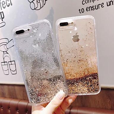 voordelige iPhone-hoesjes-hoesje Voor Apple iPhone XS / iPhone XR / iPhone XS Max Stromende vloeistof / Glitterglans Achterkant Hart / Hemel / Glitterglans TPU / PC