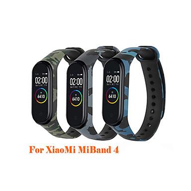economico Cinturini per Xiaomi-xiaomi mi band 4 cinturino con stampa camouflage miband 4 smart watch cinturino di ricambio per cinturino in silicone xiaomi mi band 4