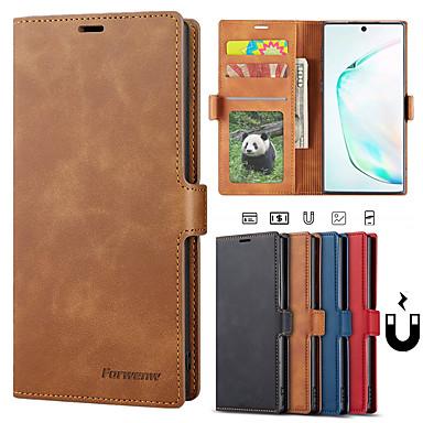 olcso Galaxy Note tokok-luxus tok Samsung Galaxy Note 10 plusz galaxis Note 10 Galaxy Note 9 telefon tok bőr flip pénztárca mágneses borító kártya