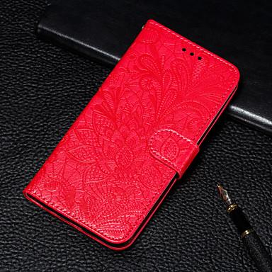 Недорогие Кейсы для iPhone X-Кейс для Назначение Apple iPhone XS / iPhone XR / iPhone XS Max Кошелек / Бумажник для карт / со стендом Чехол Цветы Кожа PU