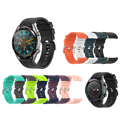 Недорогие Аксессуары для смарт-часов-силиконовый спортивный замена ремешок для часов ремешок на запястье для часов Huawei GT 42 мм / 46 мм