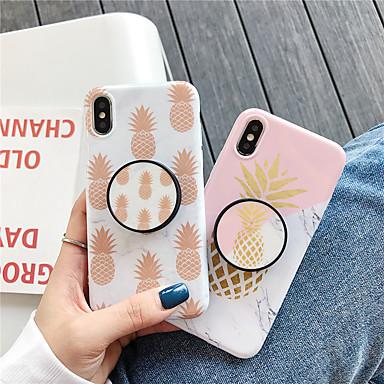 voordelige iPhone X hoesjes-hoesje voor Apple iPhone XS / iPhone XR / iPhone XS Max met standaard / patroon achterkant voedsel TPU voor iPhone 6 6 plus 6s 6s plus 7 8 7 plus 8 plus x xs