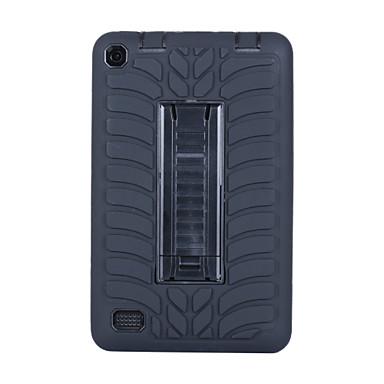 olcso Kindle tokok-Case Kompatibilitás Amazon Amazon Fire7 (2015) Ütésálló / Állvánnyal Fekete tok Egyszínű PC / Silica Gel