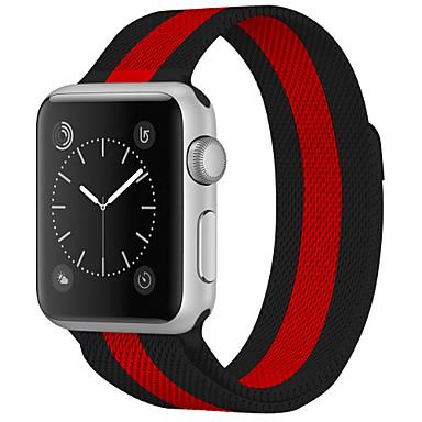 voordelige Smartwatch-accessoires-horlogeband voor Apple Watch-serie5 / 4/3/2/1 Apple Milanese polsriem van roestvrij staal met lus