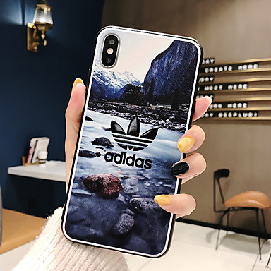 voordelige iPhone 6 Plus hoesjes-hoesje Voor Apple iPhone XS / iPhone XR / iPhone XS Max Ultradun / Patroon Achterkant Woord / tekst / Landschap TPU