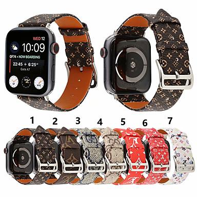 Недорогие Аксессуары для смарт-часов-Ремешок для часов для Apple Watch Series 4/3/2/1 Apple Спортивный ремешок Натуральная кожа Повязка на запястье