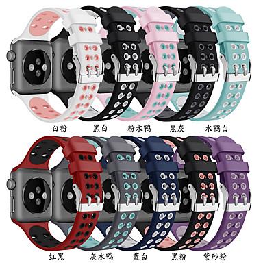 Недорогие Ремешки для Apple Watch-Ремешок для часов для Серия Apple Watch 5/4/3/2/1 / Apple Watch Series 4 Apple Спортивный ремешок силиконовый Повязка на запястье
