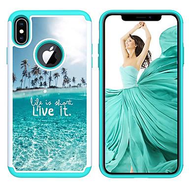 Недорогие Кейсы для iPhone-Кейс для Назначение Apple iPhone XS / iPhone XR / iPhone XS Max С узором Кейс на заднюю панель Животное / Мультипликация / Цветы Акрил