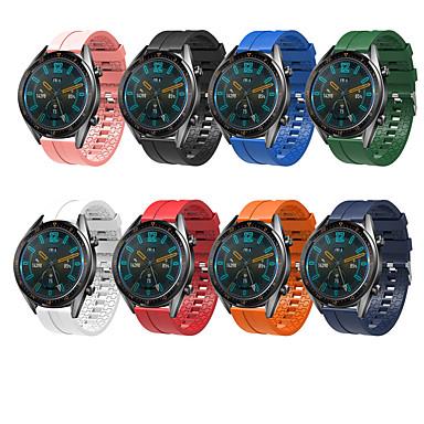 Недорогие Ремешки для часов Huawei-Ремешок для часов для Huawei Watch GT Huawei Классическая застежка силиконовый Повязка на запястье