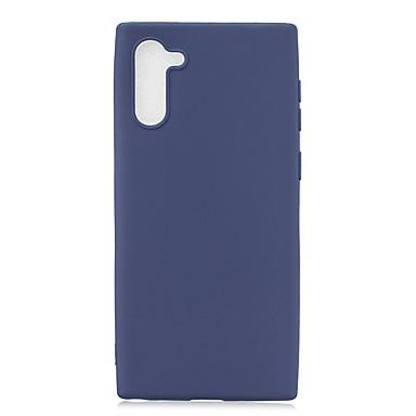 Недорогие Чехол Samsung-чехол для samsung galaxy galaxy note 10 / galaxy note 10 плюс матовая задняя крышка сплошной цветной тпу мягкий