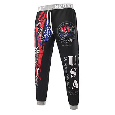 זול מכנסי טרנינג-בגדי ריקוד גברים בסיסי מכנסי טרנינג מכנסיים - צבעים מרובים שחור פול אודם US40 / UK40 / EU48 US42 / UK42 / EU50 US44 / UK44 / EU52