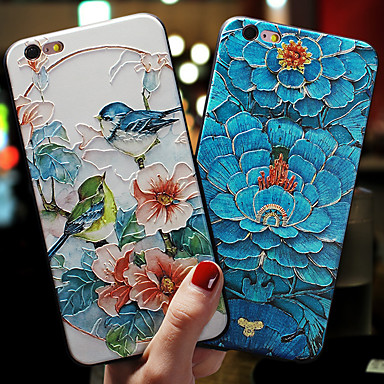 Недорогие Кейсы для iPhone 7-чехол для яблока iphone xs max / iphone 8 plus / iphone 7/7 plus / 8/6/6 plus / xr / x / xs пыленепроницаемый / тисненый / с узором на задней обложке цветок тпу / силикагель