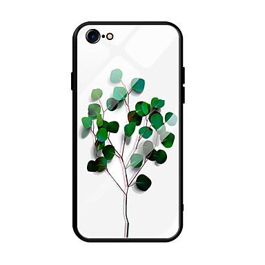 voordelige iPhone-hoesjes-hoesje Voor Apple iPhone 6s Plus / iPhone 6 Plus Ultradun / Patroon Achterkant Landschap / Boom Gehard glas