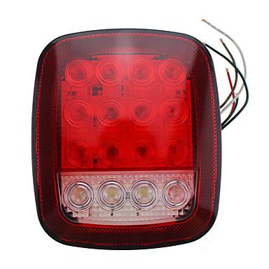 voordelige Motorverlichting-1 paar 16 leds dubbele kleuren lamp universele vrachtwagenzijde lichtsignaal waarschuwingslampje