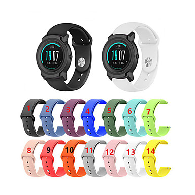 voordelige Horlogebandjes voor Ticwatch-Vervangende polsband van 22 mm polsband voor ticwatch e2 / pro smart watch-accessoires polsbandriem omkeergesp