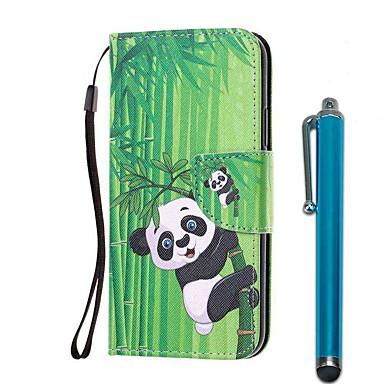Недорогие Чехлы и кейсы для Xiaomi-чехол для xiaomi redmi note 8 pro / redmi note 8 / redmi note 7 pro кошелек / визитница / с подставкой panda бамбук из искусственной кожи / тпу для redmi note 7 / redmi 8 / redmi 8a / redmi k20 / mi