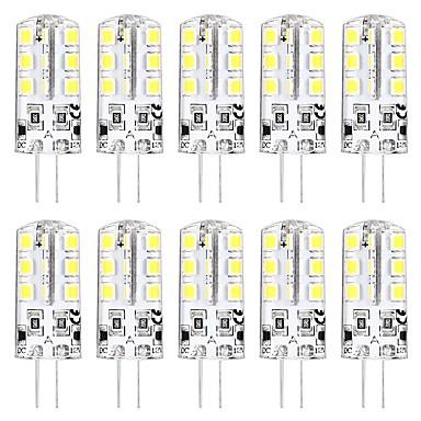 ieftine Becuri LED-10pcs 3 W Becuri LED Bi-pin 3000 lm G4 T 24 LED-uri de margele SMD 2835 Model nou Alb Cald Alb 12 V