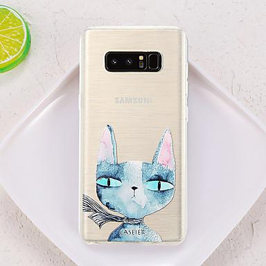 voordelige Galaxy S-serie hoesjes / covers-hoesje Voor Samsung Galaxy S8 Plus / S8 / S7 edge Waterbestendig / Stofbestendig / Doorzichtig Achterkant Kat TPU