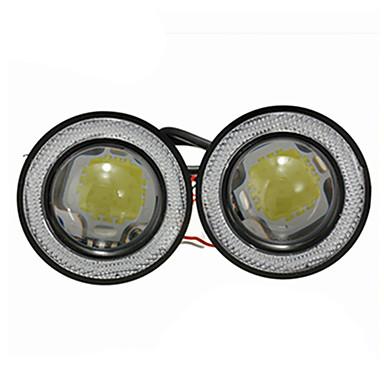 voordelige Automistlampen-2 stks / partij auto mistlampen universele waterdichte 1200lm angel eyes cob led drl rijden lichten 12 v 30 w auto mistlamp