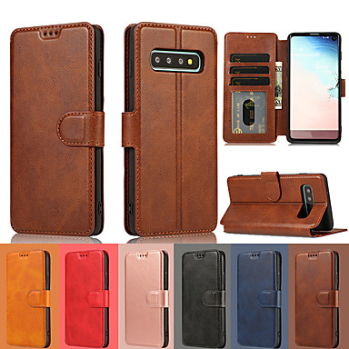 cheap Galaxy Note Series Cases / Covers-Luxury Leather Wallet Flip Case For Samsung Galaxy S10 Plus S10e S10 S9 Plus S9 S8 Plus S8 Card Wallet Stand Cover For Galaxy Note 10 Plus Note 10 Note 9 Note 8 Cases Magnetic Holder Phone Etui