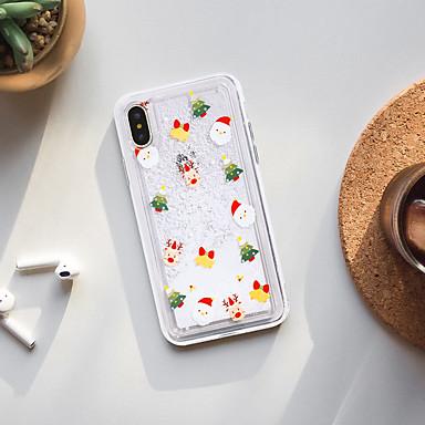 voordelige iPhone X hoesjes-hoesje voor Apple iPhone X / iPhone 8 plus stofdicht / stromende vloeistof / patroon achterkant cartoon zachte TPU / waterdicht / mode shell telefoon hoesje voor iPhone XS / XS Max / XR / iPhone 6S