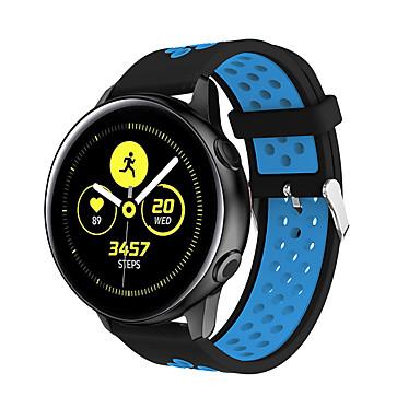 Недорогие Часы для Samsung-Ремешок для часов для Samsung Galaxy Active Samsung Galaxy Классическая застежка силиконовый Повязка на запястье