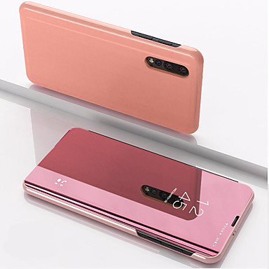 cheap Xiaomi Case-Case For Xiaomi Xiaomi Redmi Note 5 / Xiaomi Redmi Note 7 / Xiaomi Mi 9 with Stand / Mirror Full Body Cases Solid Colored PU Leather / PC