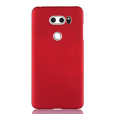 Недорогие Чехлы и кейсы для LG-Кейс для Назначение LG LG V40 / LG V50 / LG V30 Ультратонкий Кейс на заднюю панель Однотонный ТПУ