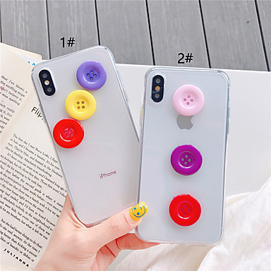 cheap iPhone Cases-Case For Apple iPhone XS / iPhone XR / iPhone XS Max Transparent / DIY Back Cover Solid Colored TPU for iPhone X XS 8PLUS 8 7PLUS 7 6 6S 6PLUS 6S PLUS
