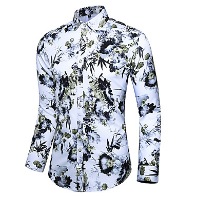 رخيصةأون قمصان رجالي-رجالي بوهو / أنيق طباعة قميص, منقوش