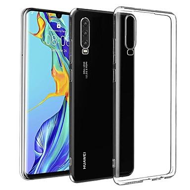 غطاء من أجل Huawei هواوي P30 نحيف جداً / مثلج غطاء خلفي لون سادة TPU