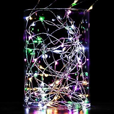 levne Dovolená dekorační světlo-10m řetězec světla 100 leds bílé bílé modré vodotěsné dekorativní měděný drát stříbrná linka aa baterie napájené 1ks