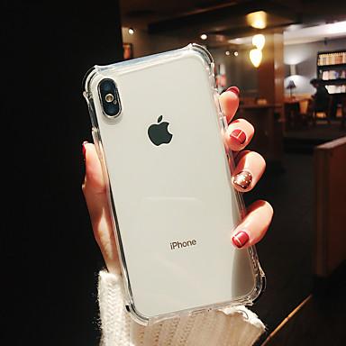 voordelige iPhone 6 Plus hoesjes-hoesje Voor Apple iPhone XS / iPhone XR / iPhone XS Max Schokbestendig / Beplating / Spiegel Achterkant Transparant TPU