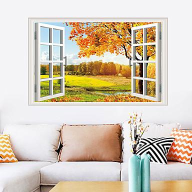 أزياء ملصقات الحائط القيقب - ملصقات الحائط الطائرة الزهور / النباتية / المناظر الطبيعية غرفة الدراسة / مكتب / غرفة الطعام / المطبخ